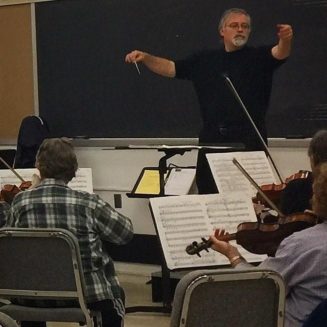 Daron conducting Orchestra Society of Philadelphia. (Photo: Colin Minigan)