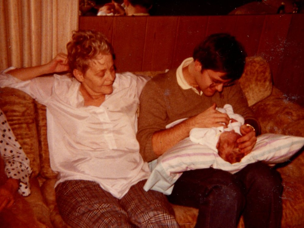 With my mother and nephew Ryan, the morning of the day she died.