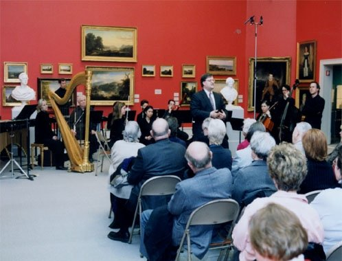 Daron offers remarks at the world premiere of the work in Albany in 2003.
