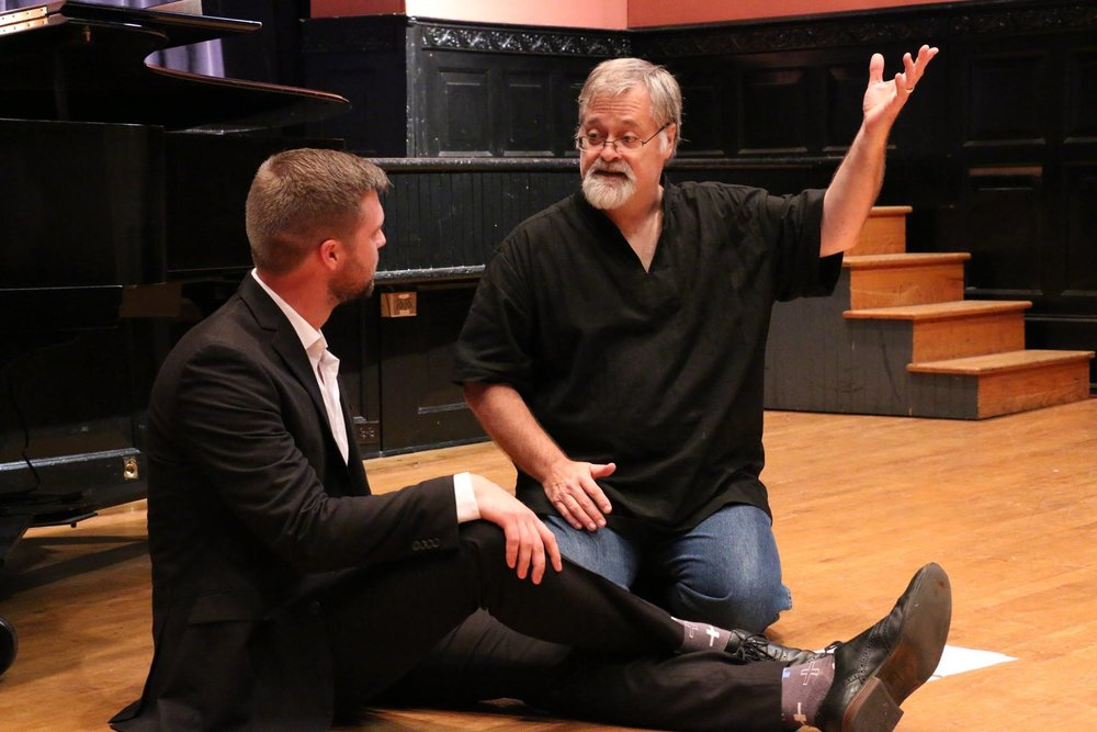 Leading a vocal masterclass for the Russian Opera Workshop at the Academy of Vocal Arts in Philadelphia.