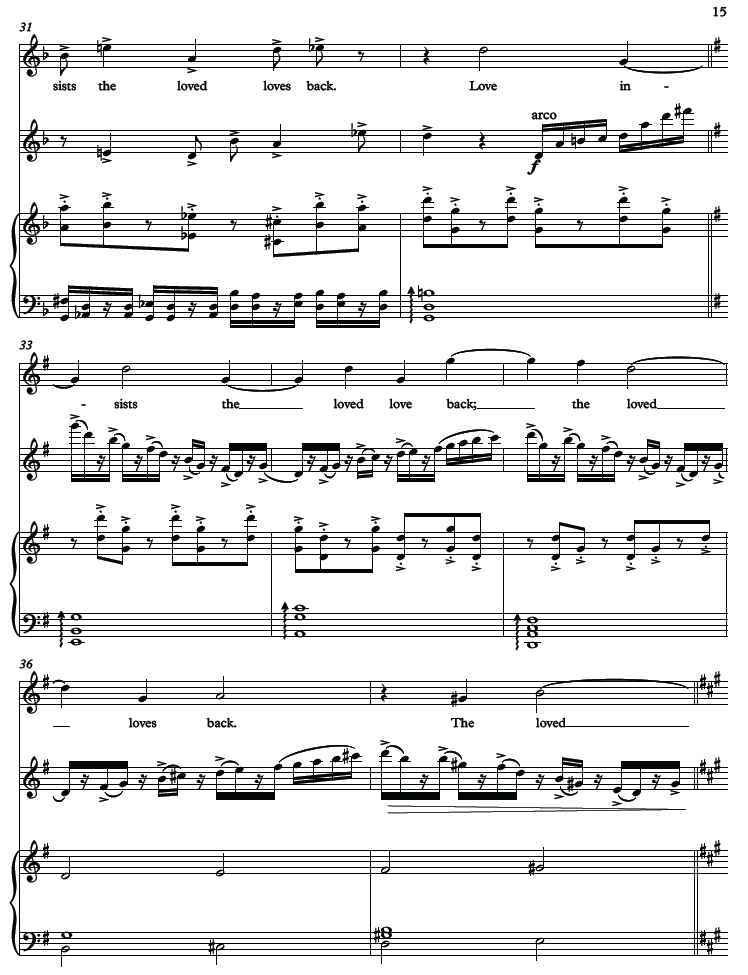 A page from the composition.