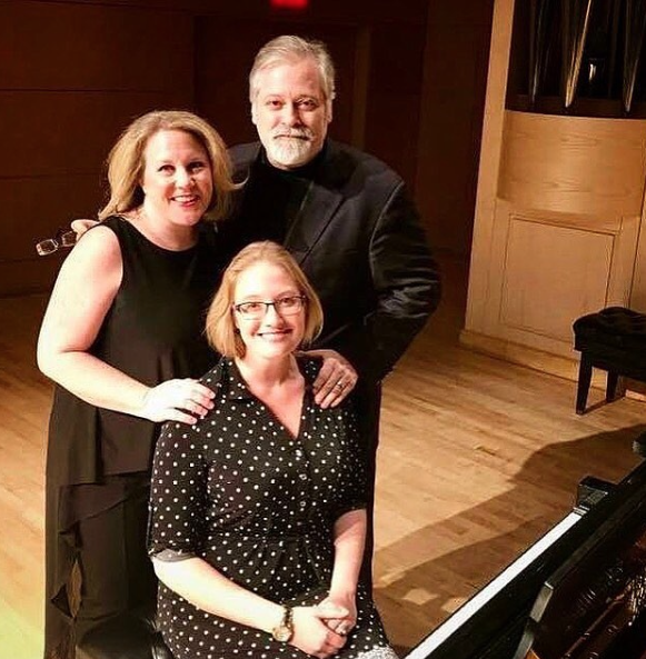 Hagen, Wright-Ivanova, and Weiss at Doc Rando Concert Hall at the University of Nevada Las Vegas during recording sessions of A Handful of Days.