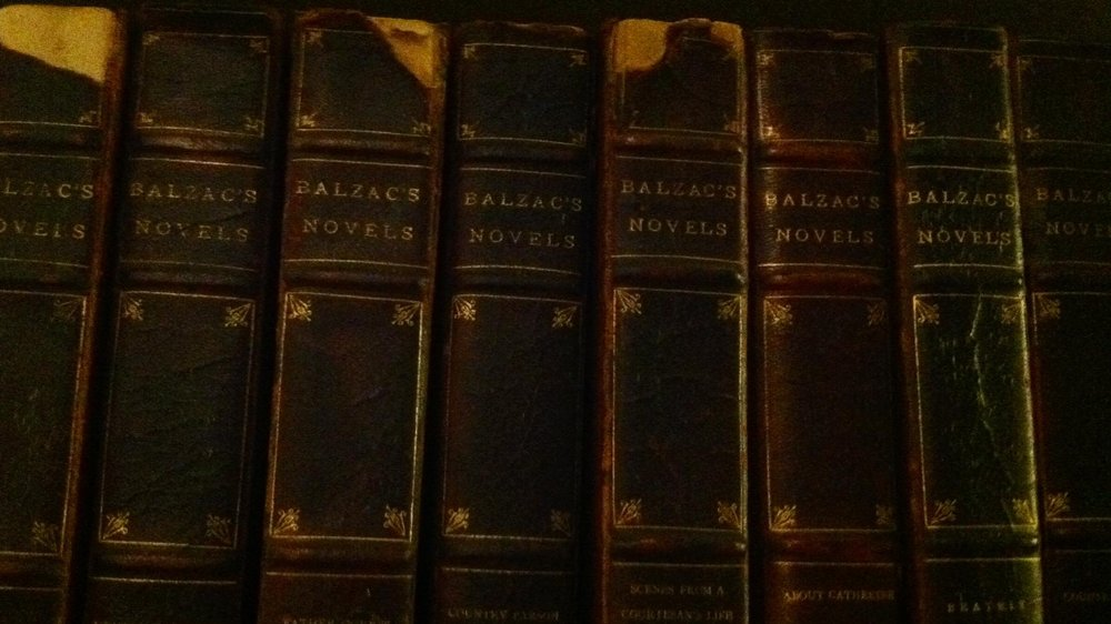 Yaddo's Collected Balzac, shelved in West House.
