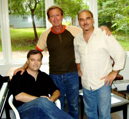 At Yaddo with fellow composers David Del Tredici and George Tsontakis, Autumn, 2006. (Photo credit: Gilda Lyons)