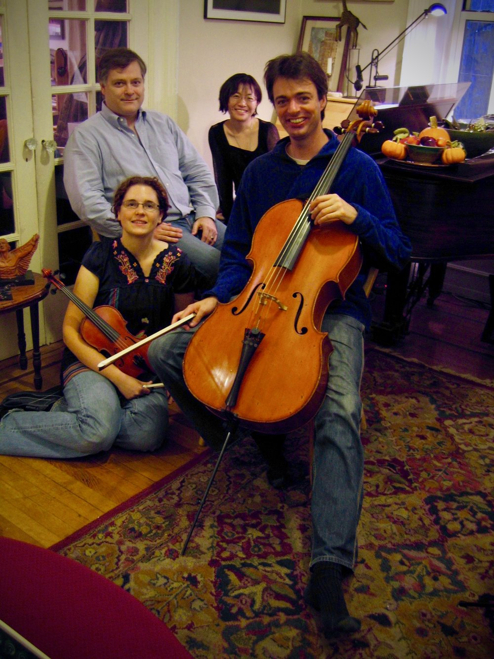 Hagen and the Amelia Trio on 20 October 2007 in his New York City apartment.