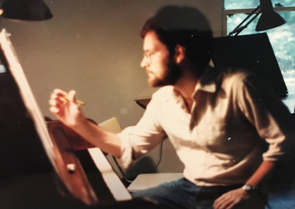 Composing at the piano at Yaddo in 1984. (Photo by Carol Bullard)