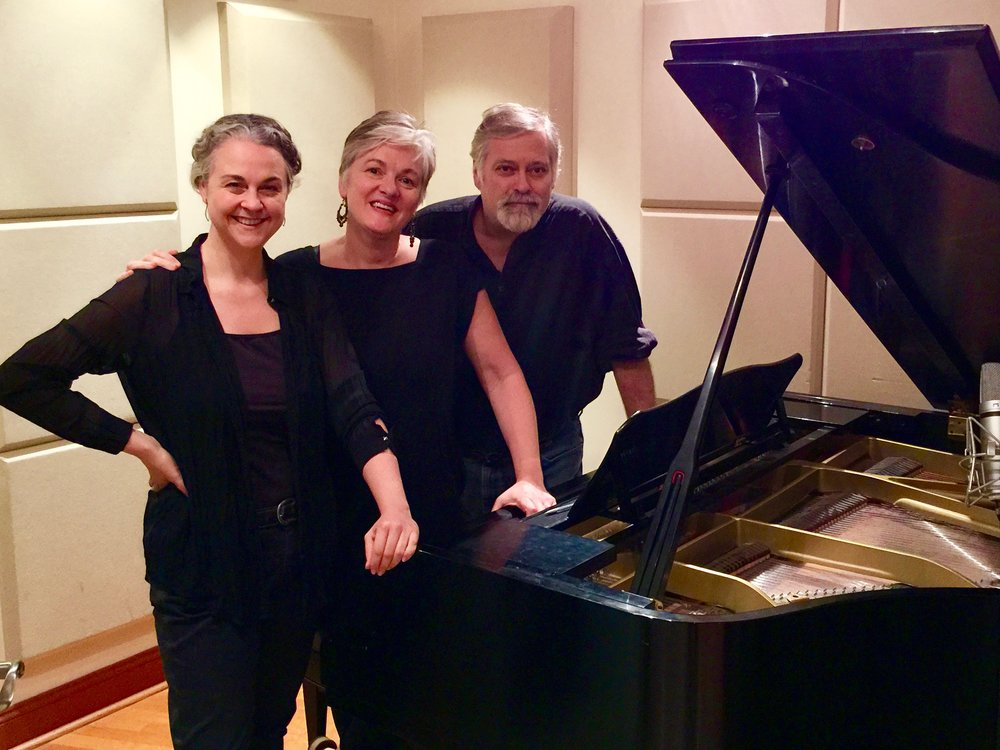 """Soprano Gilda Lyons recording the cycle """"Phantoms of Myself"""" with pianist Laura Ward, produced by Hagen."""