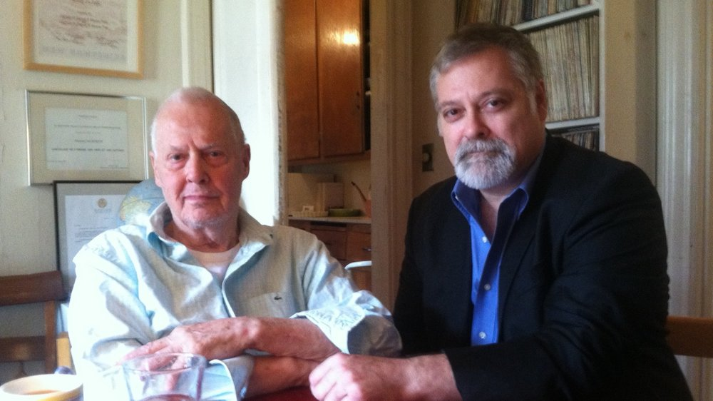 Ned Rorem and Daron Hagen at Rorem's apartment in fall 2018. (Photo: Mary Marshall)