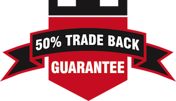 50% TradeBack Guarantee