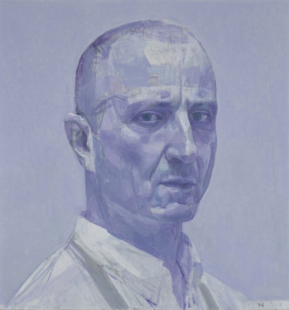 Nick Mourtzakis - Self-portrait: in violet