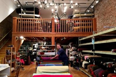 David Schmidt in the new shop