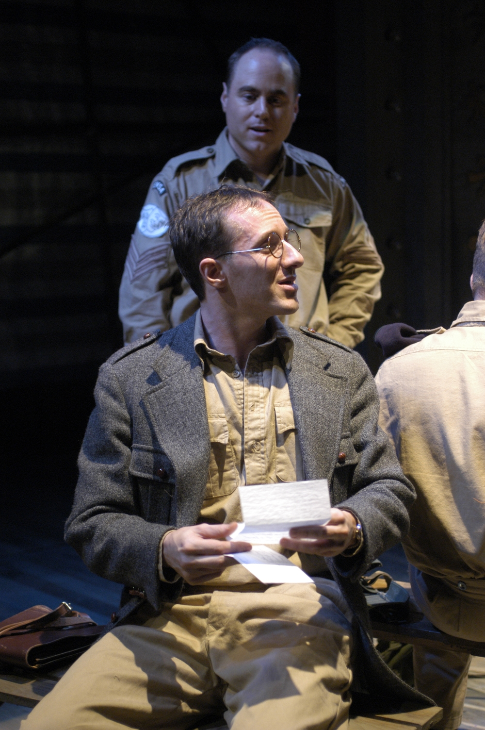 Onstage with Jim Farris in The Studio Theatre production of PRIVATES ON PARADE directed by Joy Zinoman.