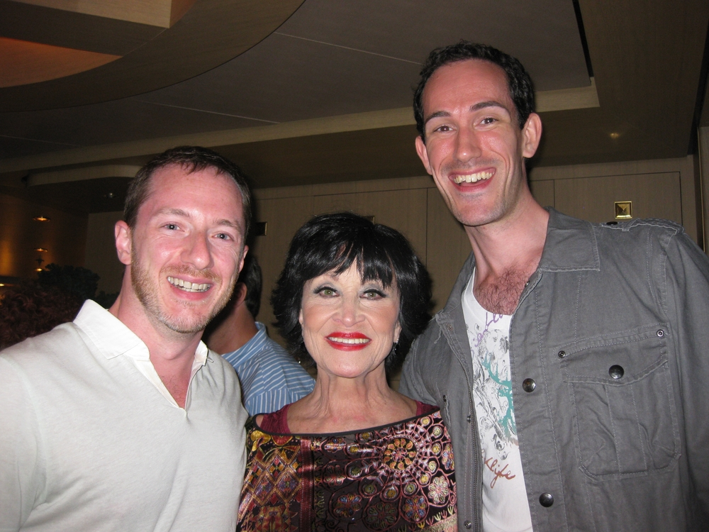 With Chita Rivera and David Sisco for Atlantis Cruises.