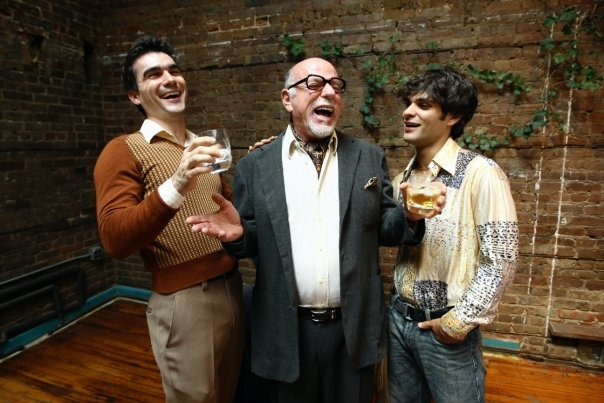 The cast of HIS GREATNESS, directed by Tom Gualtieri. (l. to r. Dan Domingues, Peter Goldfarb and Michael Busillo.)