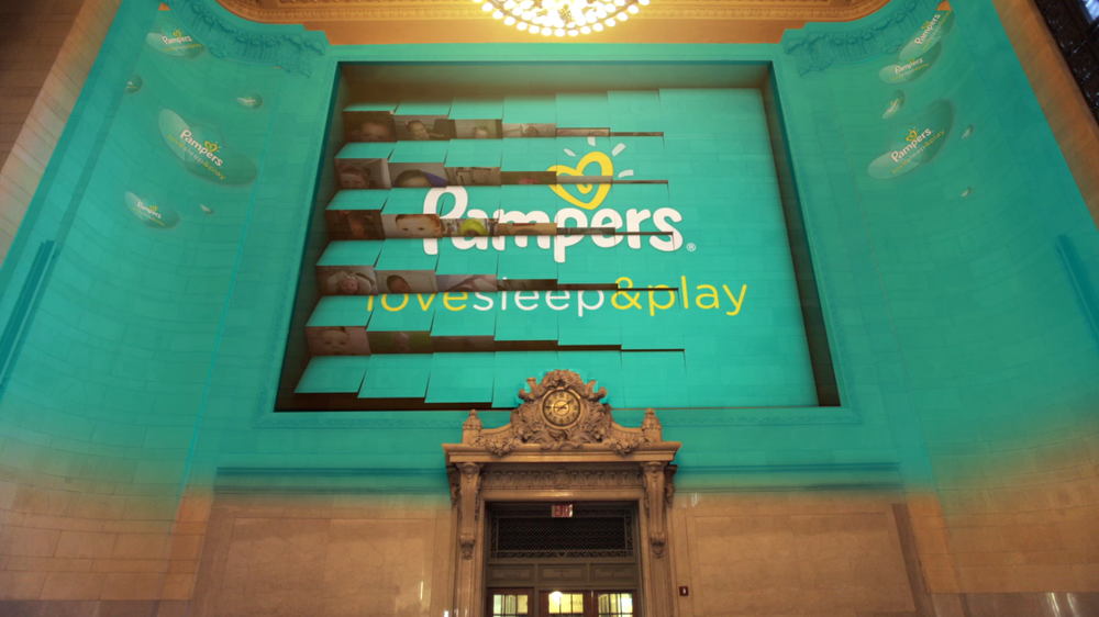 Pampers Projection Mapping