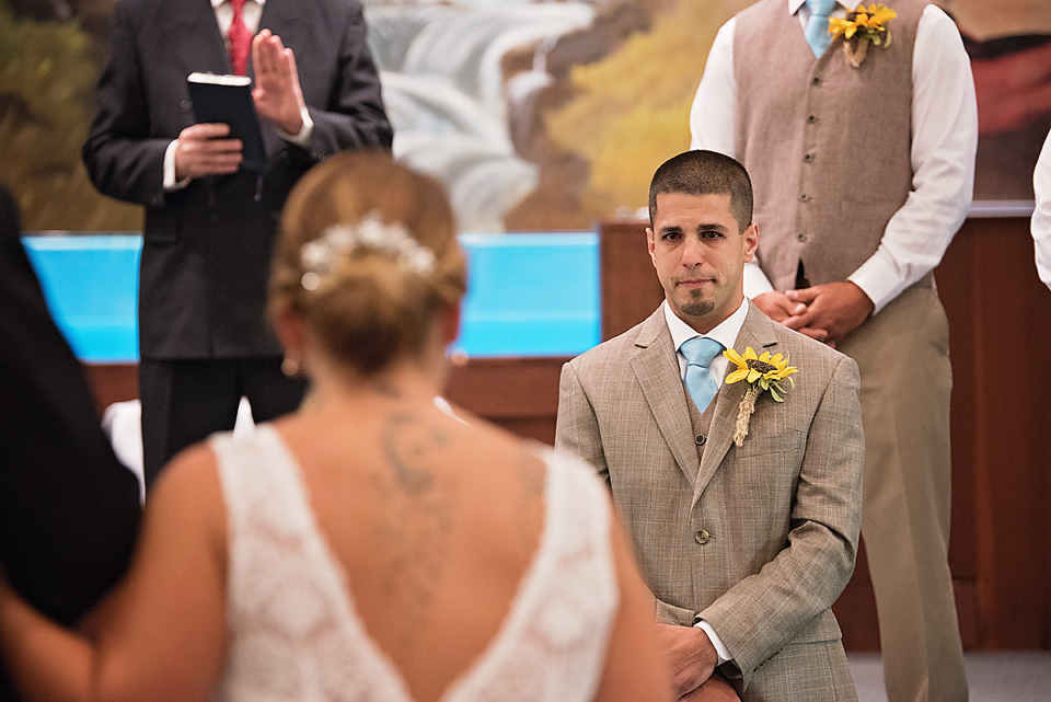 Charlie's emotional first look at his bride was nothing short of amazing