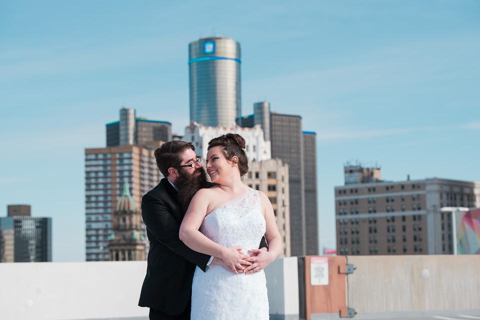 17.04.01_Napela Wedding-40.7bride, dance, Detroit, downtown detroit, Groom, Lapum-Napela Wedding, rencen, the z parking garage, wedding gown.jpg