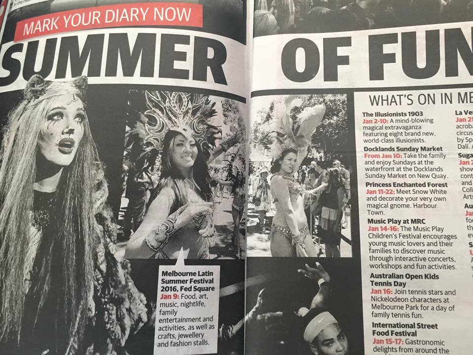 Herald Sun 2016 - For Melbourne Latin Summer Festival