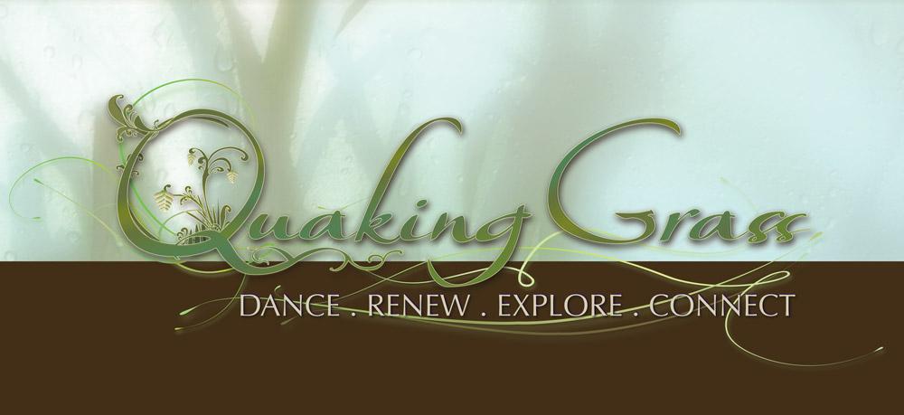 Logo and Business Card design for Quaking Grass Wellness Center