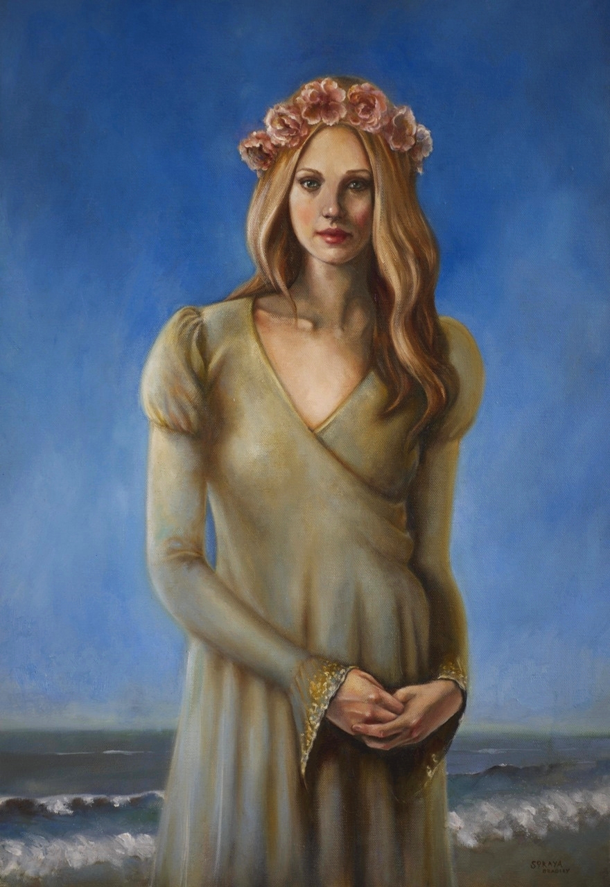 Blue Sky Dreaming, a painting by Romantic Realist Soraya Bradley