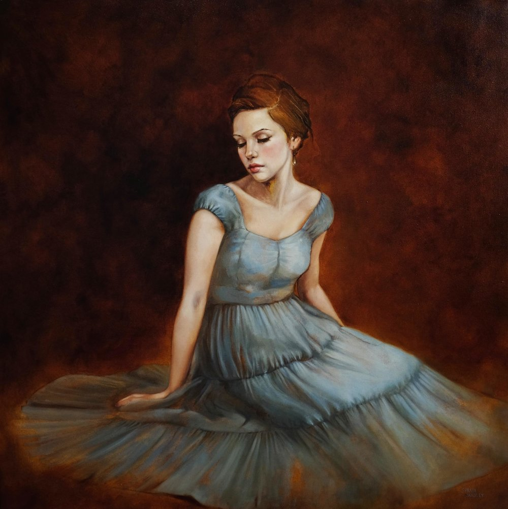 Poet's Daughter  - 30 x 30 inches, oil on canvas.