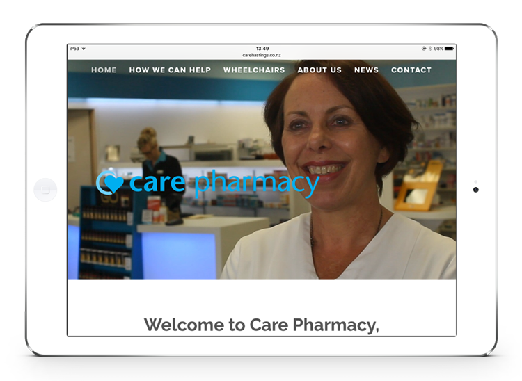 Care Pharmacy Hastings website