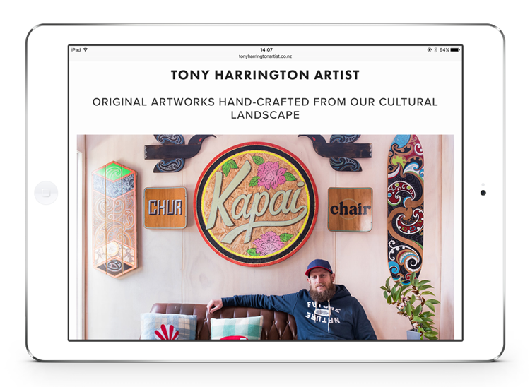 Tony Harrington Artist website