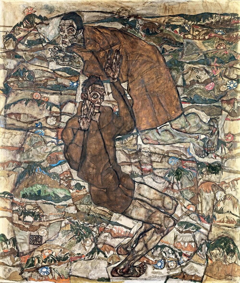 """foto: leopold museum, wien, inv. 467 Keine Angst vor den Schattenseiten: Egon Schieles """"Entschwebung (Die Blinden II)"""" aus 1915"""