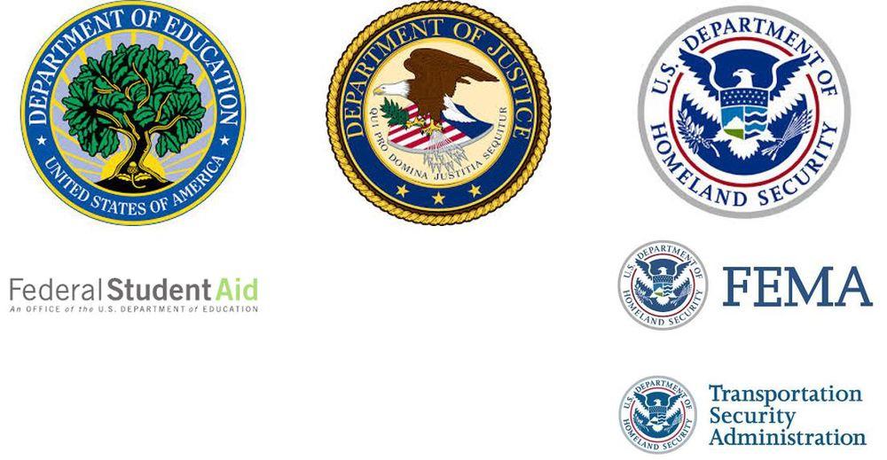 DOEd FSA DOJ DHS TSA FEMA logo.JPG