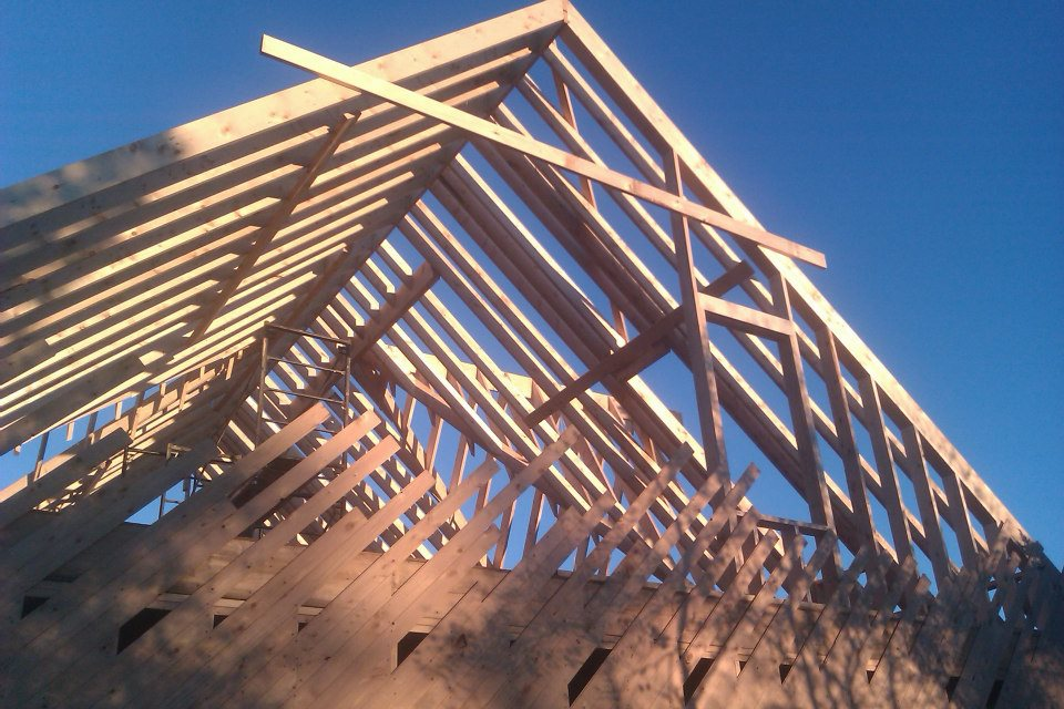 Locally-grown & milled hemlock sheathing