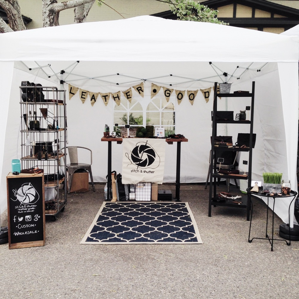 Stitch & Shutter Leather Goods at the first Jefferson Park Farm & Flea of the 2016 season!