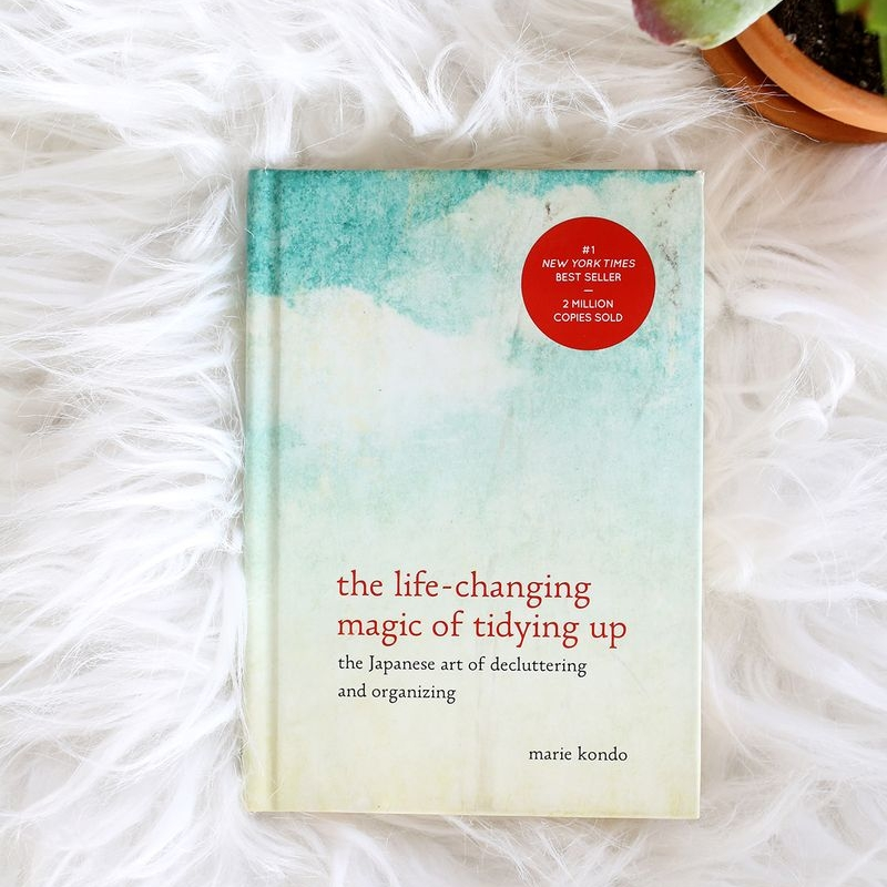 tidy up - I know, I know, you hear about this book all the time (it's just so good)! Spring cleaning is the perfect time to really implement Kondo's tips in  The Life-Changing Magic...  because that warm weather shift makes it such a motivating time of year. I don't know about you, but decluttering to live in a neat, minimal space does WONDERS for my sense of calm and keeps me feeling insanely motivated to tackle any task.