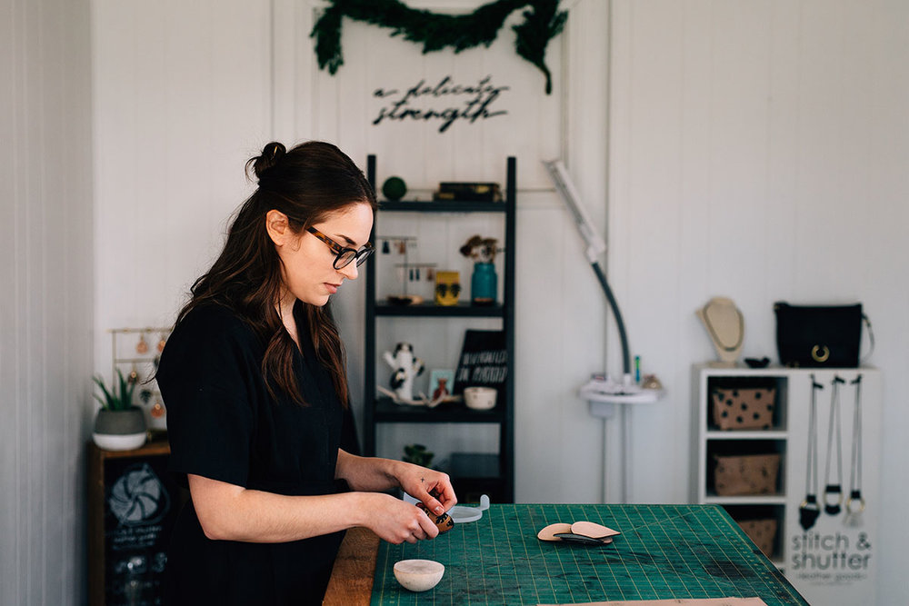 Megan of Stitch & Shutter in the Studio