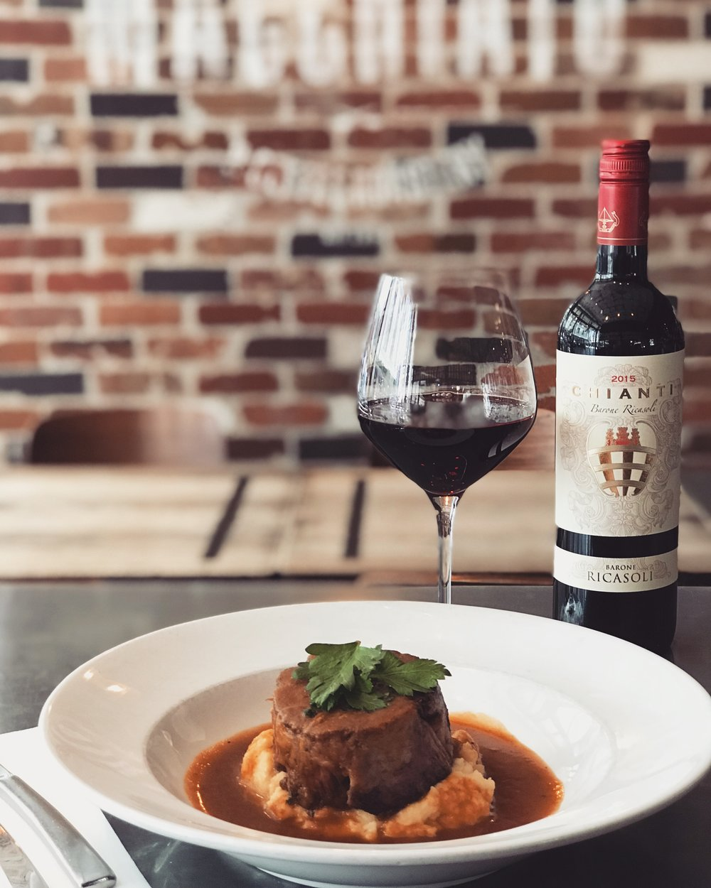 13-19 December - Slow cooked shoulder of Junee Spring lamb served with smashed potatoes and red wine & rosemary jus.Accompanied with a rich glass of our 'Barone Ricasoli' Chianti, from Siena, Italy.