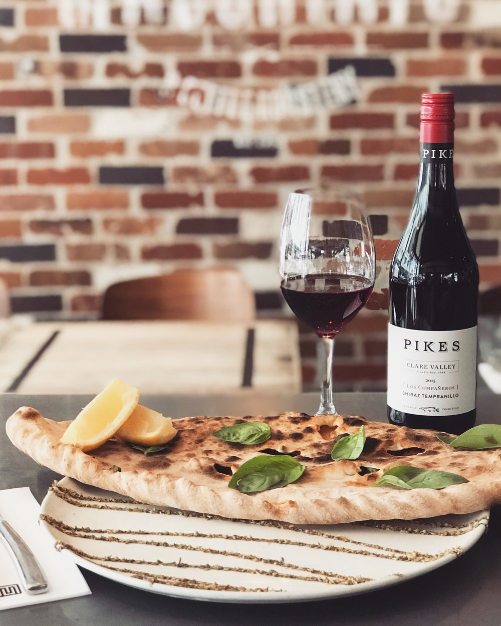 22-28 November - An Italian version of a Turkish favourite - the Great Gozleme. This huge wood fired calcone wraps up a cheesy heart of mozzarella, salame Calabrese and spinach. We dare you finish it ad still be hungry!Best served with a glass of Pikes 'Los Companeros' Shiraz-Tempranillo, 2015 Clare Valley.
