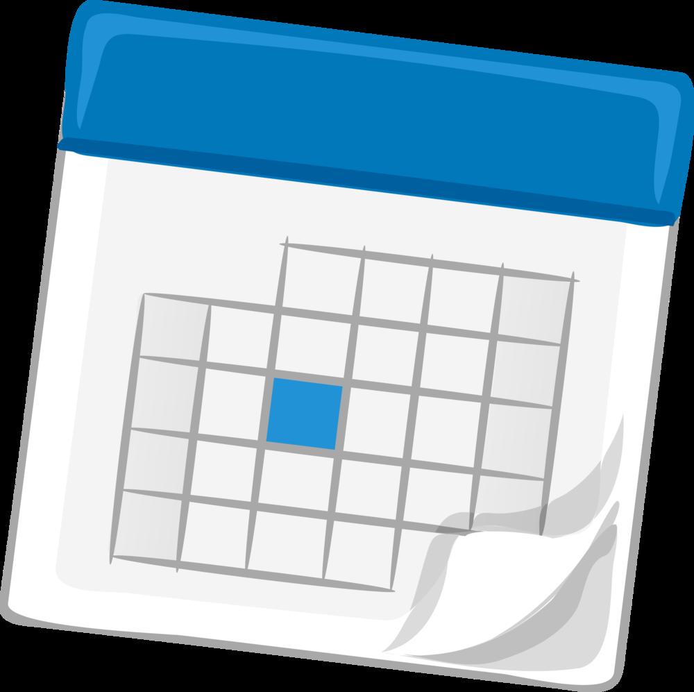 blue calendar vector clipartpng