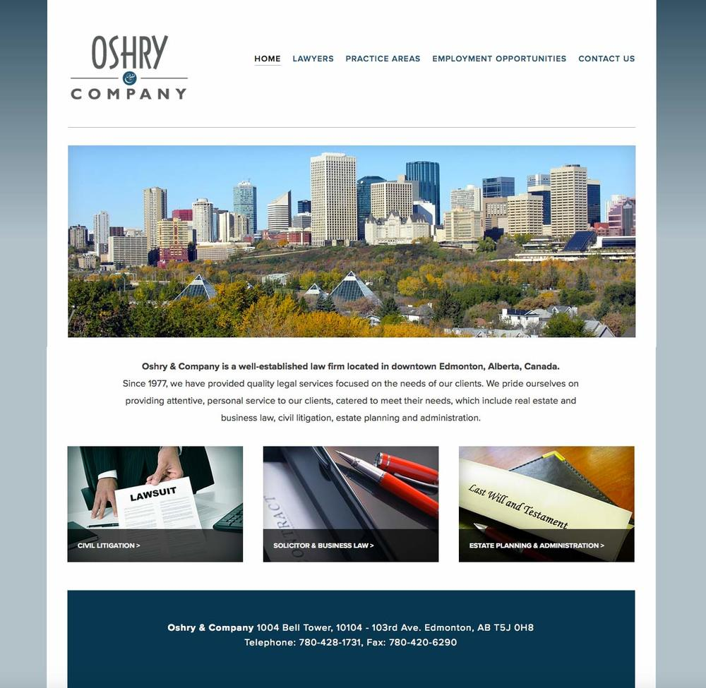 Oshry & Company website