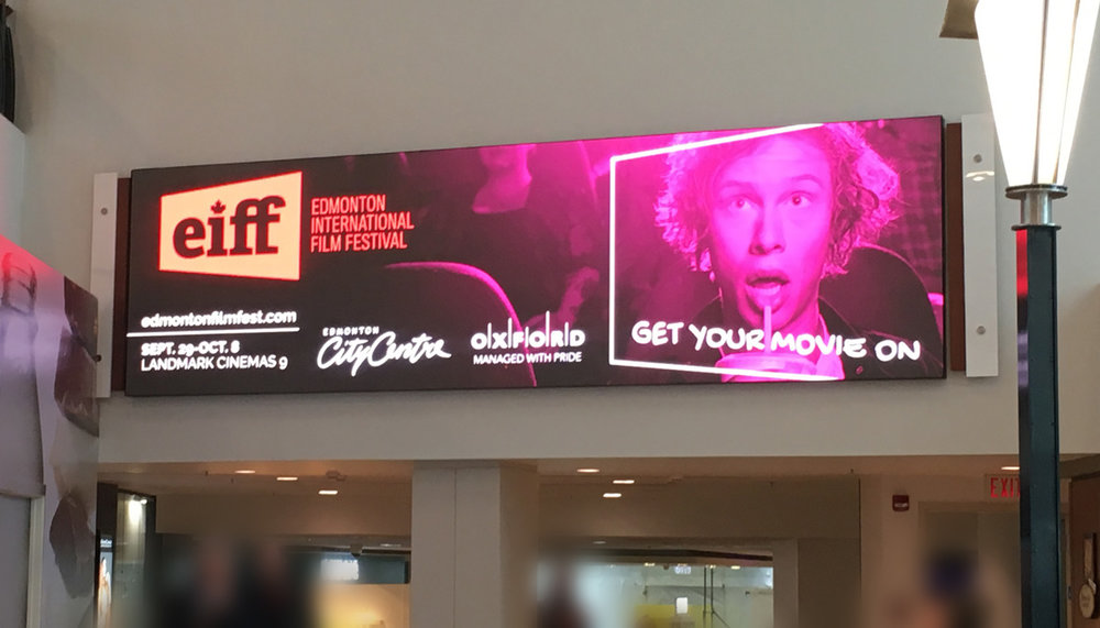 Edmonton International Film Festival - Electronic Billboard