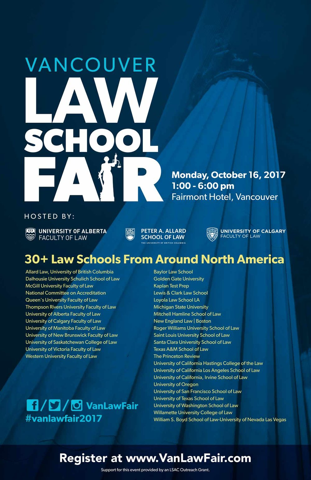 Vancouver Law School Fair 2017 – poster