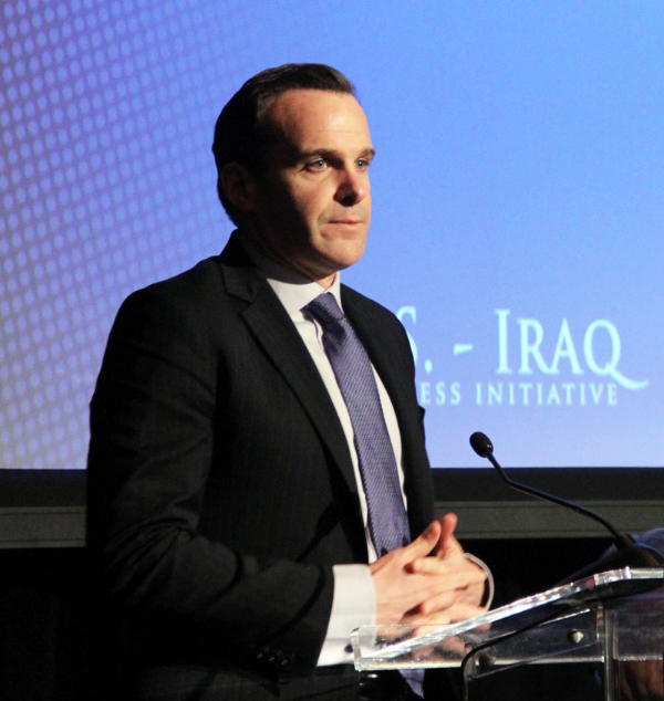 Brett McGurk commended al-Abadi for his efforts against the Islamic State.  (Photo by Ramsen Shamon)