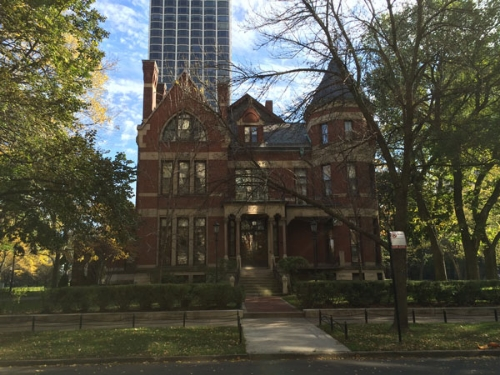 The current residence of Chicago's archbishop located at 1555 N. State Parkway.  (Photo by Ramsen Shamon)