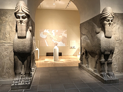 Assyrian section at the Met. If the Lamassu could talk ...