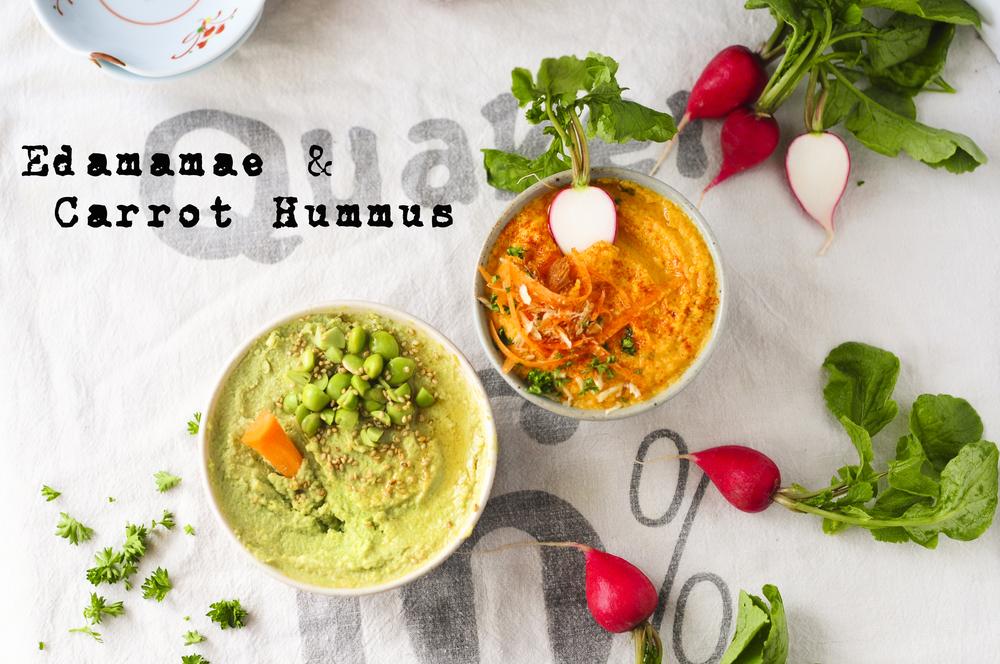 Edamame & Carrot Hummus / 枝豆とキャロットのフムス