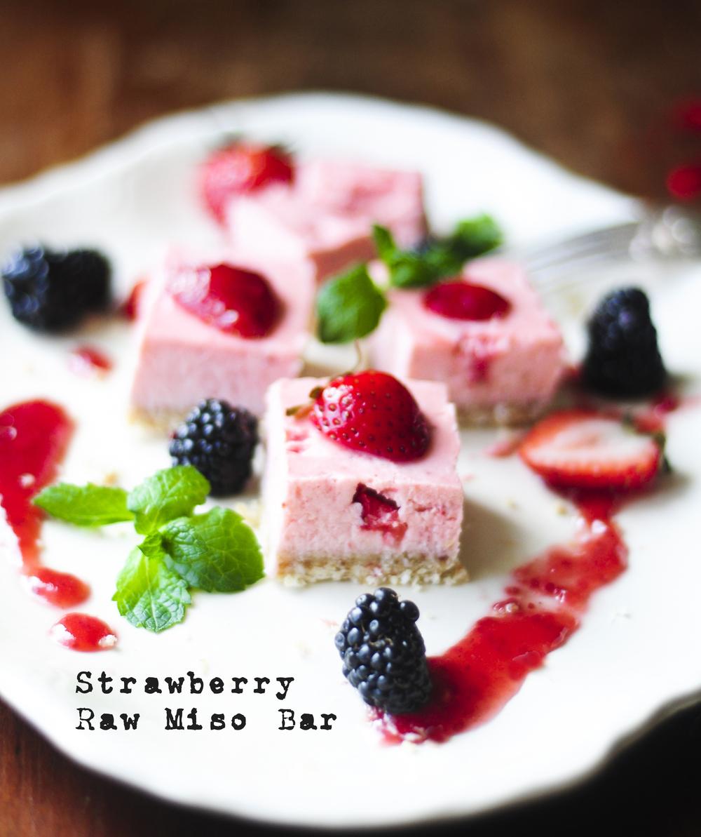 Strawberry Raw Miso Bar / イチゴのロー味噌バー