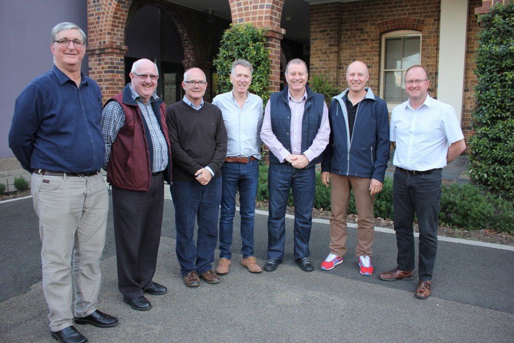 From left to right:  Br Ken McDonald, Br Jeffrey Barrington, Br Peter Carroll (Provincial), Br Paul Kane, Br Darren Burge, Br Michael Callinan and Br Greg McDonald