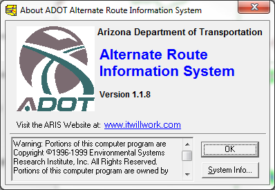 Alternate Route Information System