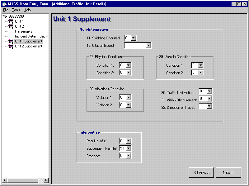 ALISS - Data Entry Form - Unit 1 Supplemental