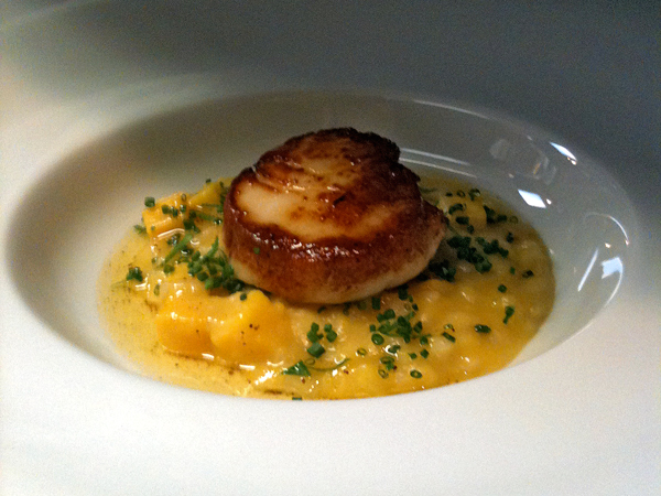 Seared Qualicum Scallop with Butternut Squash Risotto