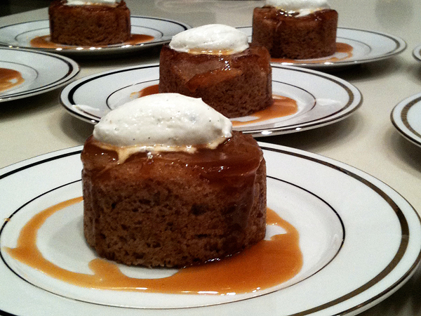 Apple Spice Cake Sour Cream Chantilly