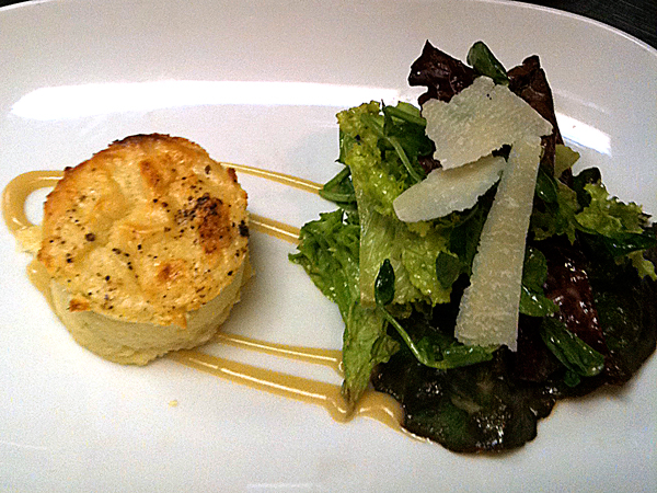 Twice Baked Goat Cheese Souffle